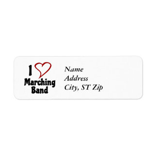 I Love Marching Band Return Address Label
