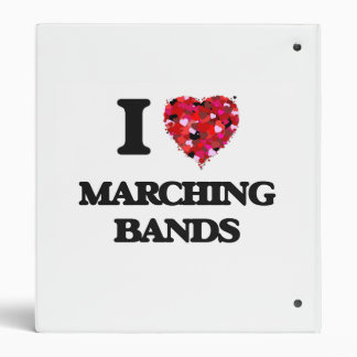 I Love Marching Bands 3 Ring Binders