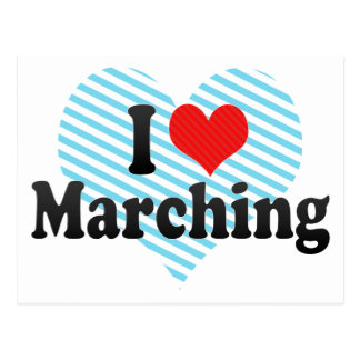 I Love Marching Postcard