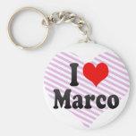 I love Marco Keychains