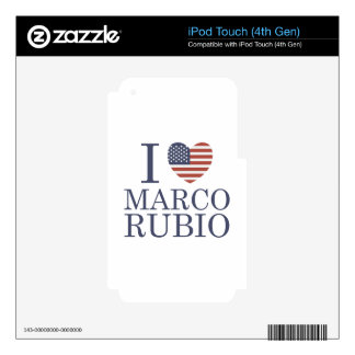 I Love Marco Rubio iPod Touch 4G Decal