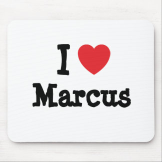I love Marcus heart custom personalized Mouse Pads