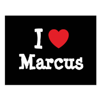 I love Marcus heart custom personalized Postcard