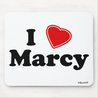 I Love Marcy Mouse Pad
