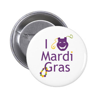 I Love Mardi Gras Pin