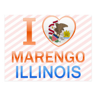 I Love Marengo, IL Postcard