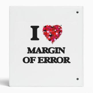 I Love Margin Of Error Vinyl Binder