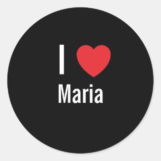 I love Maria Classic Round Sticker
