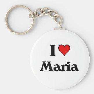 I love Maria.jpg Keychain