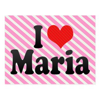 I Love Maria Postcard