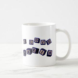 I love Maria toy blocks in blue Coffee Mug