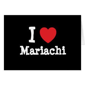 I love Mariachi heart custom personalized Card