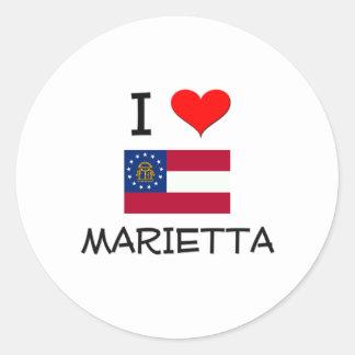 I Love MARIETTA Georgia Classic Round Sticker