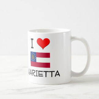 I Love MARIETTA Georgia Classic White Coffee Mug