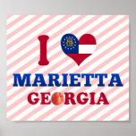 I Love Marietta, Georgia Poster