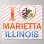 I Love Marietta, IL Print