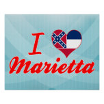 I Love Marietta, Mississippi Posters