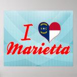I Love Marietta, North Carolina Poster