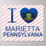 I Love Marietta, PA Posters