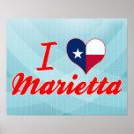 I Love Marietta, Texas Print