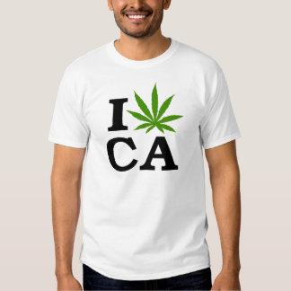I Love Marijuana Cannabis California T-Shirt