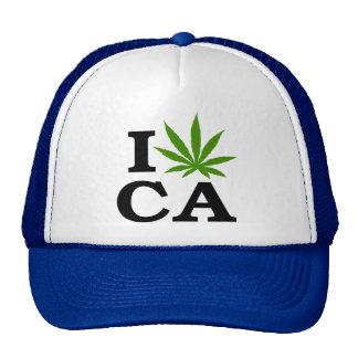 I Love Marijuana Cannabis California Trucker Hat