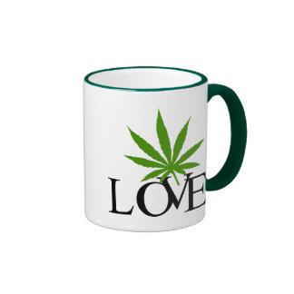 I Love Marijuana Gift Ringer Mug