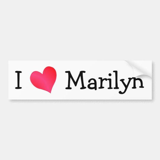 I Love Marilyn Bumper Sticker