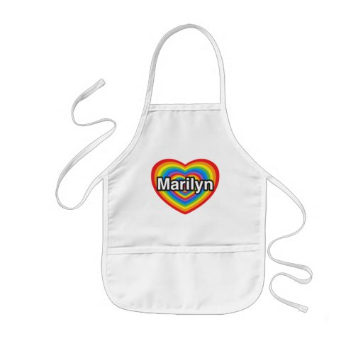 I love Marilyn. I love you Marilyn. Heart Apron