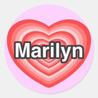 I love Marilyn. I love you Marilyn. Heart Stickers