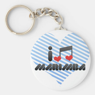 I Love Marimba Keychains