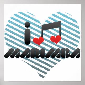 I Love Marimba Poster
