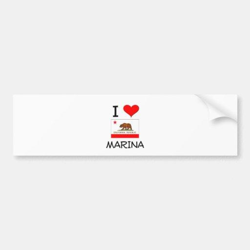 I Love MARINA California Car Bumper Sticker