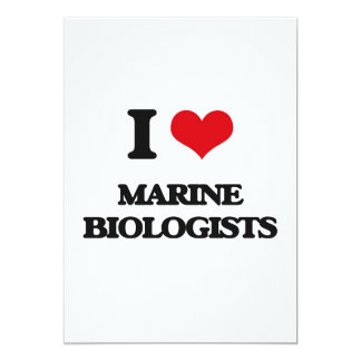 I love Marine Biologists 5x7 Paper Invitation Card