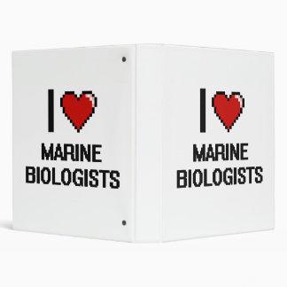I love Marine Biologists Vinyl Binders