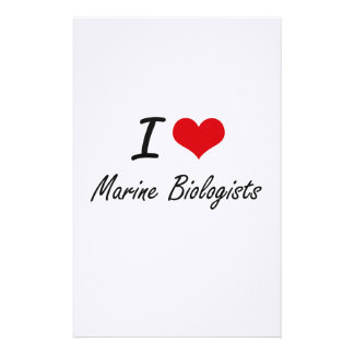 I love Marine Biologists Stationery