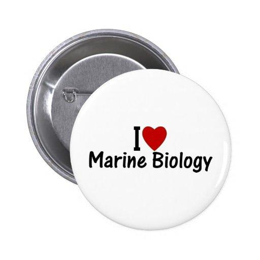 I Love Marine Biology 2 Inch Round Button
