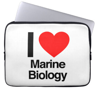 i love marine biology laptop sleeve