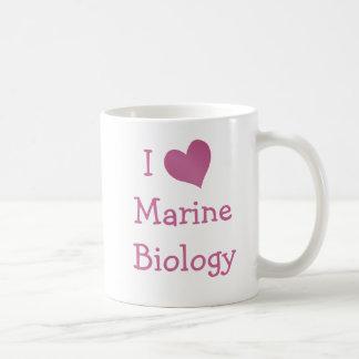 I Love Marine Biology Classic White Coffee Mug