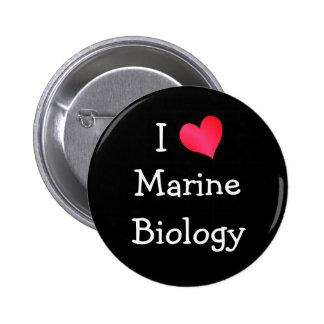 I Love Marine Biology Pinback Button