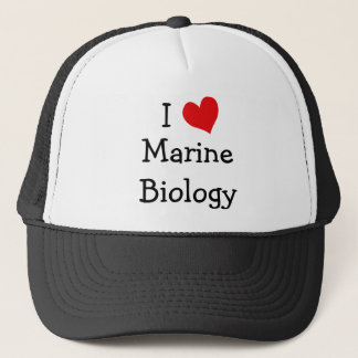 I Love Marine Biology Trucker Hat