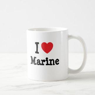 I love Marine heart T-Shirt Coffee Mug