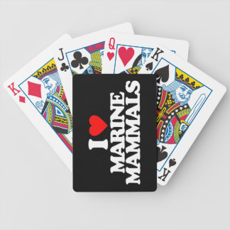 I LOVE MARINE MAMMALS BICYCLE POKER CARDS
