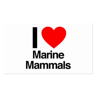 i love marine mammals business card