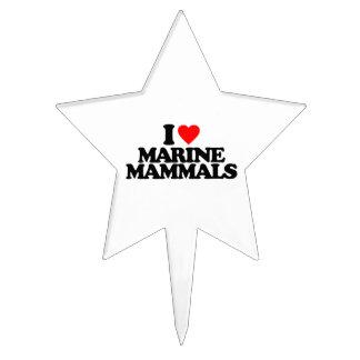 I LOVE MARINE MAMMALS CAKE TOPPER