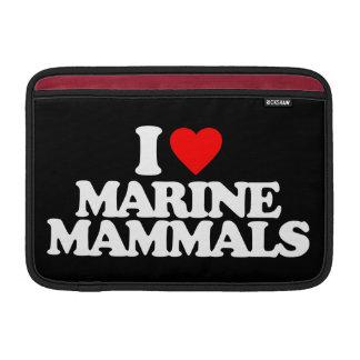 I LOVE MARINE MAMMALS MacBook SLEEVE