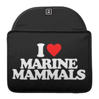 I LOVE MARINE MAMMALS MacBook PRO SLEEVES
