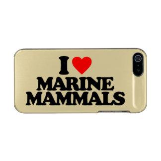 I LOVE MARINE MAMMALS METALLIC PHONE CASE FOR iPhone SE/5/5s