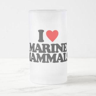 I LOVE MARINE MAMMALS BEER MUGS