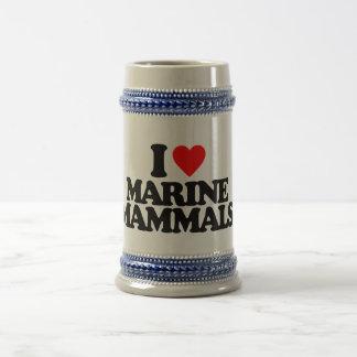 I LOVE MARINE MAMMALS MUGS
